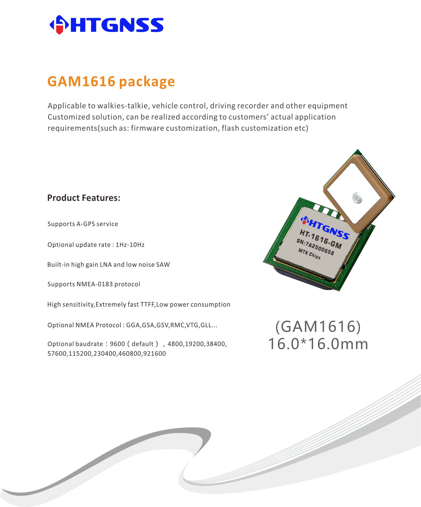 HTGNSS professional offer GPS Chip,GNSS Chip,GPS Module,GNSS Module,GPS Receiver,GNSS Receiver,Antenna GPS,GPS Board,GNSS Board
